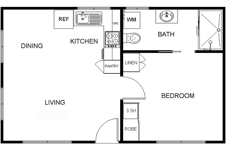 Modern One-Bedroom Granny Flat Plans