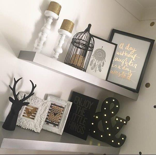 Premier Homes - Winter Colour Trends - Black & Gold Decorating Ideas