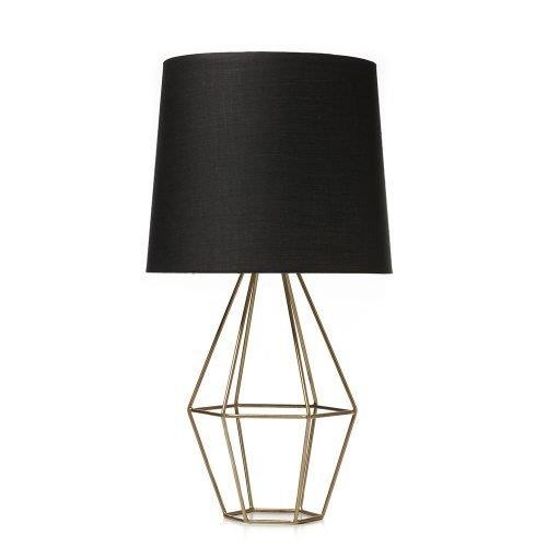 Premier Homes - Winter Colour Trends - Black & Gold Lamp from Adairs
