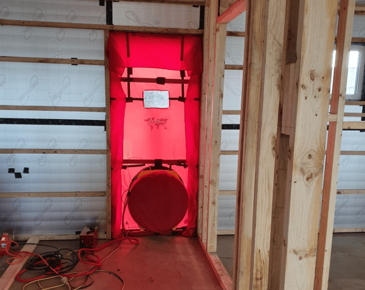Passive House Blower Door Test Premier Homes